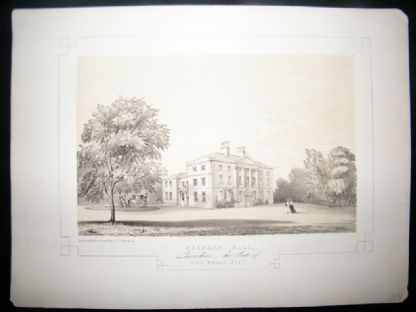Twycross Lancashire 1846 Antique Print. Standen Hall | Albion Prints